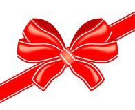 Vector red bow Royalty Free Stock Photos