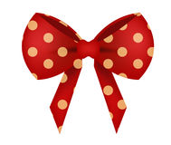 Vector of Red Bow with Dot Royalty Free Stock Image
