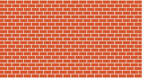 Vector red brick wall Stock Images