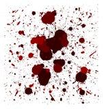 Vector red brush splatters. Set of vector red quality handmade brush splatters Stock Images