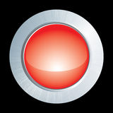 Vector red button Royalty Free Stock Photos