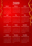 Vector red calendar Royalty Free Stock Images