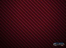 Vector red carbon fiber volume background. Abstract decoration cloth material wallpaper with shadow for car tuning or service stock illustration