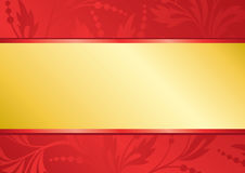 Vector red card with golden center Royalty Free Stock Images
