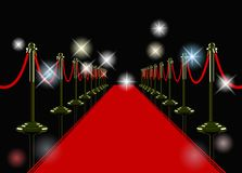 Vector red carpet Stock Photos