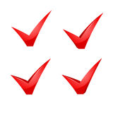 Vector red check mark. Royalty Free Stock Image
