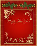 Vector red Christmas album in 2012. The vector red Christmas album in 2012 Royalty Free Stock Photography