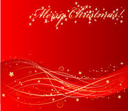 Vector red christmas background Stock Image