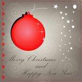 Vector red christmas background. cut paper design Stock Photos
