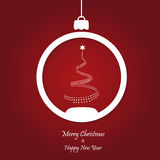 Vector red christmas background. cut paper design. Royalty Free Stock Images