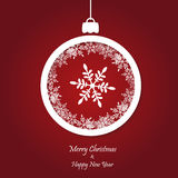 Vector red christmas background. cut paper design. Royalty Free Stock Photography