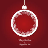 Vector red christmas background. cut paper design. Stock Image