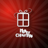 Vector Red Christmas Background Stock Photo