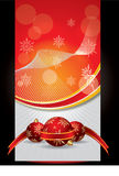 Vector Red Christmas Banner Stock Image