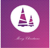 Vector red christmas card Stock Photo