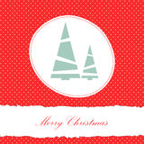 Vector red christmas card Stock Image
