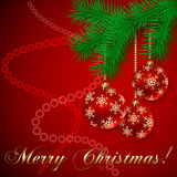 Vector Red Christmas Holiday Greeting Card Stock Images