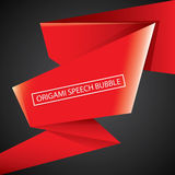 Vector red christmas origami speech bubble banner Stock Photography