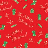 Christmas red seamless vector pattern background royalty free illustration
