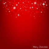 Vector red christmas wallpaper Royalty Free Stock Image
