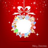 Vector red christmas wallpaper Stock Images