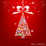 Vector red christmas wallpaper Stock Image