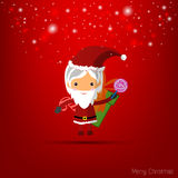 Vector red christmas wallpaper Royalty Free Stock Photography