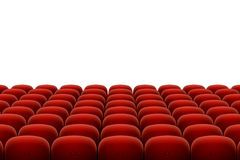 Vector red cinema, theatre seats Royalty Free Stock Photography