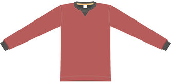 Vector red cloth. Vector image of red Tshirt vector illustration