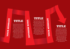 Vector red colored ribbon layout Stock Image
