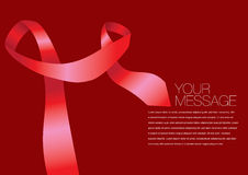 Vector red colored ribbon layout Design Stock Image