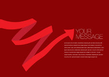 Vector red colored ribbon layout Design Stock Images