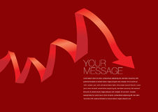 Vector red colored ribbon layout Design Royalty Free Stock Photos