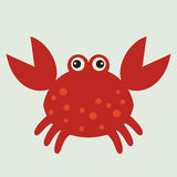 Vector  red crab Stock Images
