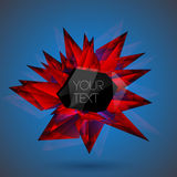 Vector red crystal background. Stock Photography