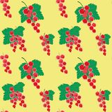 Vector red currant background in blurred style, seamless pattern Royalty Free Stock Images