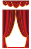 Vector red curtain Royalty Free Stock Photography