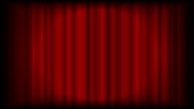 Vector red curtain background from theatre or ceremony with ligh. T in the centre Royalty Free Stock Image