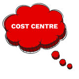 Vector  of Red 3D Speech Bubble Text COST CENTRE. EPS8 . Stock Photos