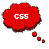 Vector  of Red 3D Speech Bubble Text CSS. EPS8 . Royalty Free Stock Photos