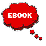 Vector  of Red 3D Speech Bubble Text EBOOK. EPS8 . Stock Photography