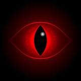 Vector red dragon eye. Royalty Free Stock Images