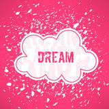 Vector red dream inspirational background. Cute Stock Images