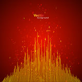 Vector red equalizer Stock Photo