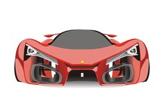 Vector of red ferrari f80 sport car Royalty Free Stock Photo