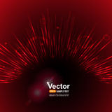 Vector red flash Stock Photos