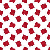 Vector red flat armchair seamless pattern Royalty Free Stock Image