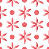 Vector red fllower  seamless repeat pattern royalty free illustration
