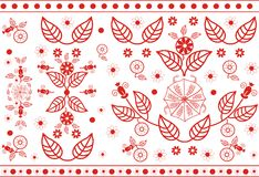 Vector red floral pattern Royalty Free Stock Photography