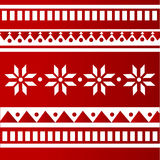 Vector red folk background Stock Photo